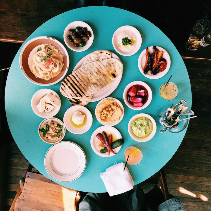 Glasserie mezze brunch in Greenpoint, New York