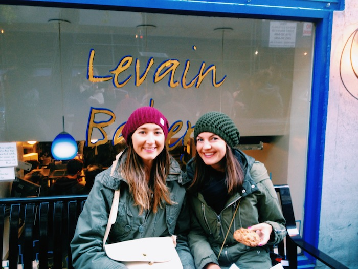 Christine Amorose & Kate Brennan at Levain Bakery