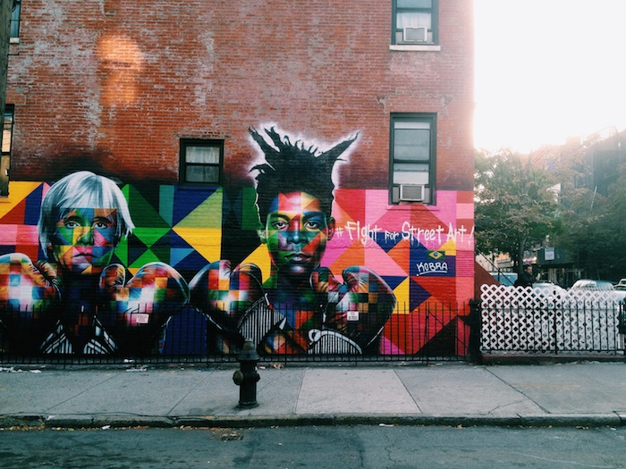 Fight for Street Art mural in Williamsburg, New York City