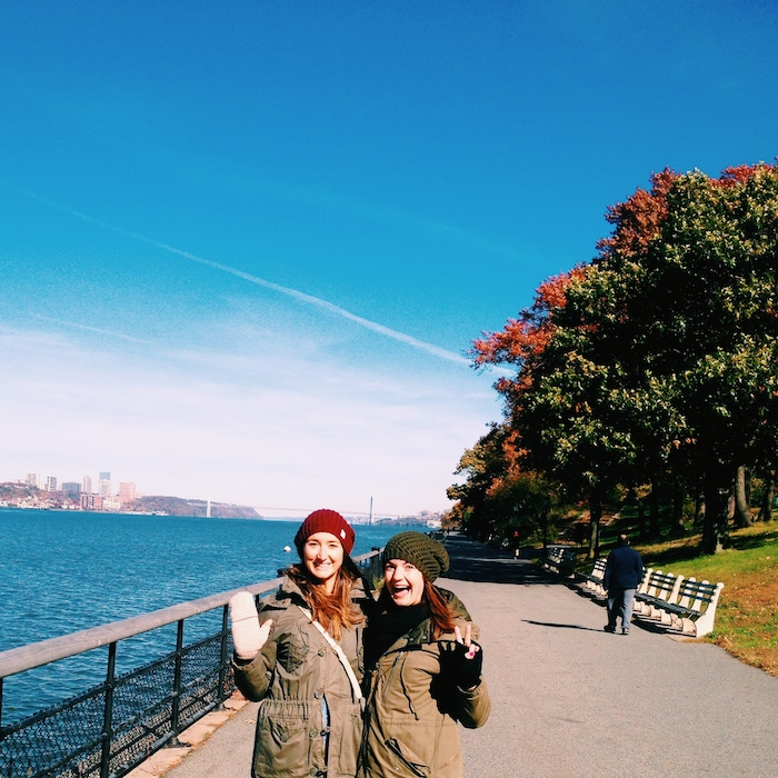 Christine Amorose and Kate Brennan in Riverside Park