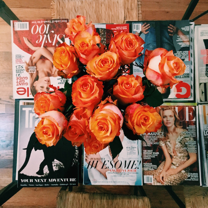 The Bouqs orange rose bouquet