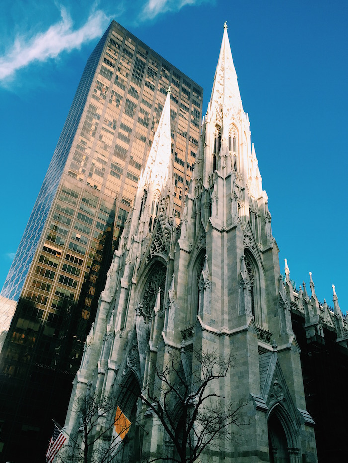 St Patrick's Cathedral on Fifth Avenue in New York City