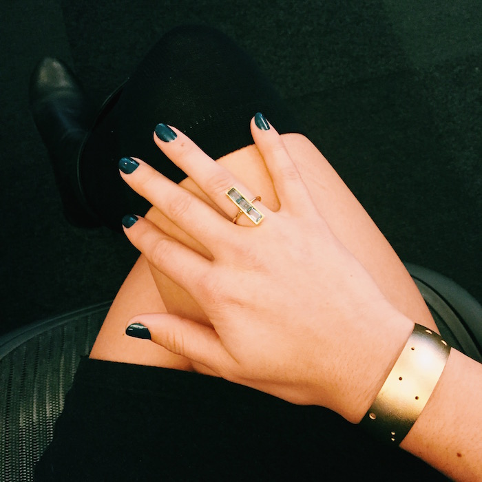 Rocksbox ring and Catbird Gemini cuff