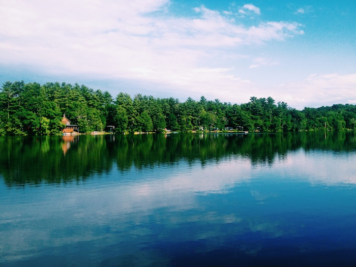 Lake in the Berkshires region, New York