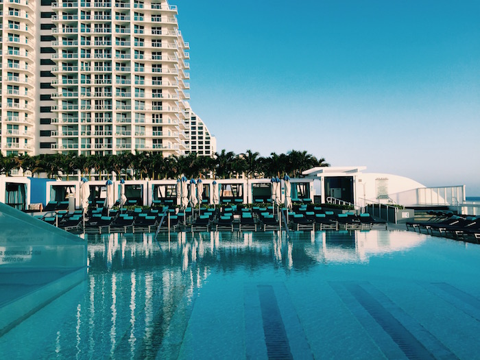 The view at the W Fort Lauderdale Hotel