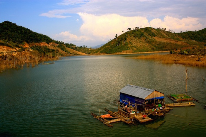 Floating villages in Central Highlands, Vietnam