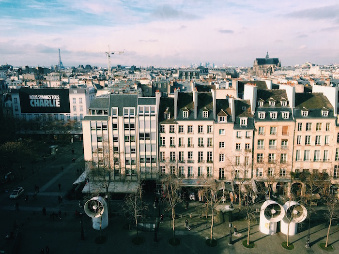 The view of Paris from Centre Pompidou