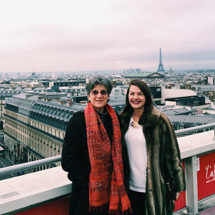 Christine Amorose and her mother in Paris, France