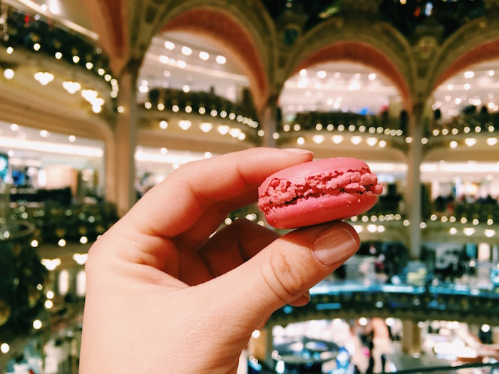 Macarons in Galeries Lafayette in Paris, France