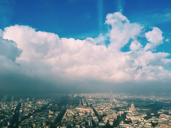 The view of Paris from the Montparnasse Tower