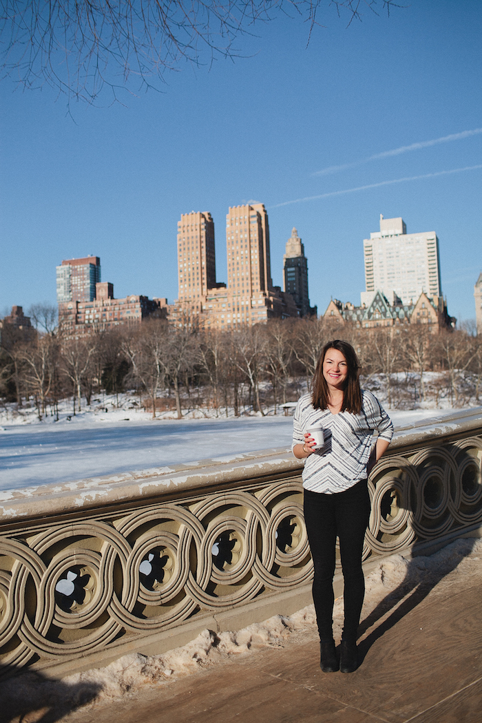 Christine Amorose in Central Park, New York City