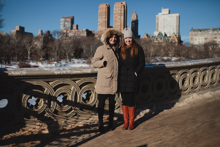 Christine Amorose and Jillian Wishart in Central Park, New York City