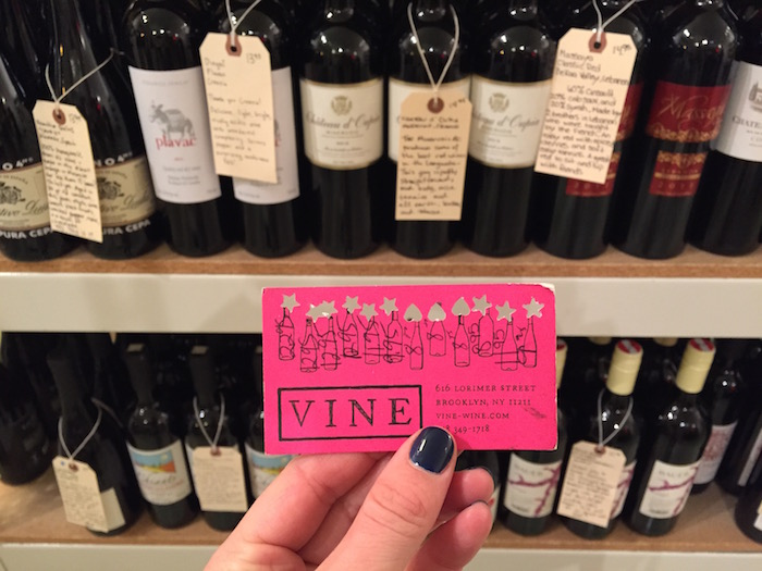 Vine Wine in Williamsburg loyalty card