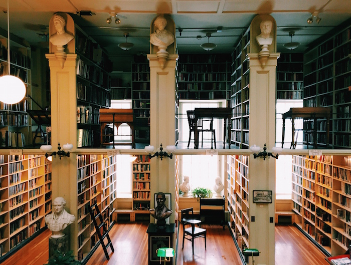 The Providence Athenaeum Library in Rhode Island