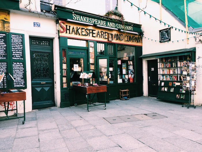 Shakespeare & Co book shop in Paris, France