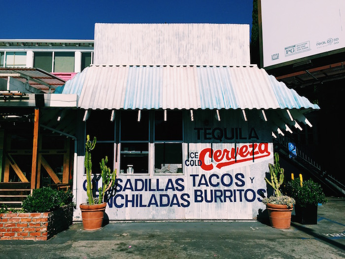 Taco shop in West Hollywood in Los Angeles, California