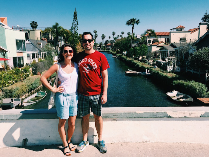 Wearing Everlane at the Venice Canals in Los Angeles, California