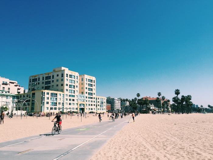 Santa Monica Beach & Pier In Los Angeles, California