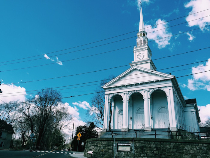 Mystic, Connecticut on a sunny spring day