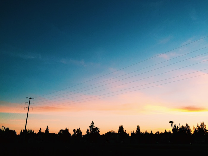 Sunset in Elk Grove, California