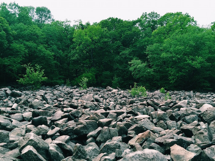 Ringing Rocks Park in Bucks County, Pennsylvania