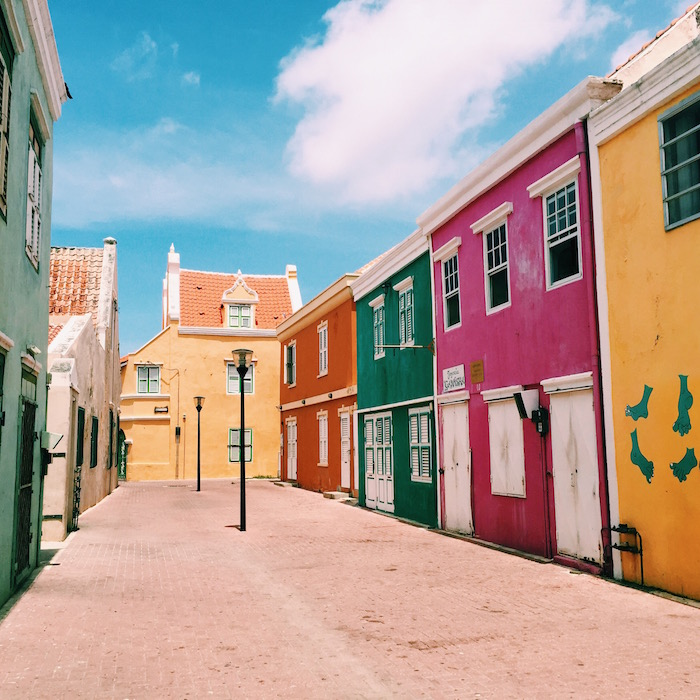 Otrabanda downtown district in Curacao