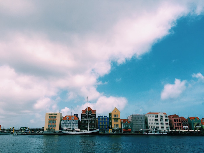 Colorful downtown streets in Willemstad, Curacao