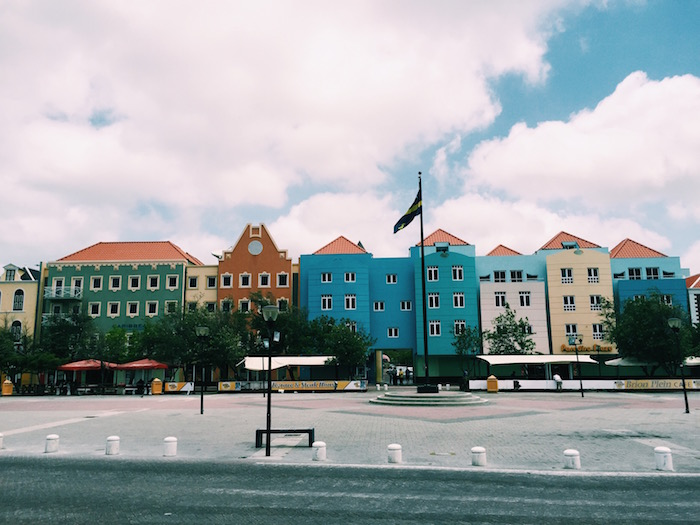 Colorful streets of Otrobanda, Curacao