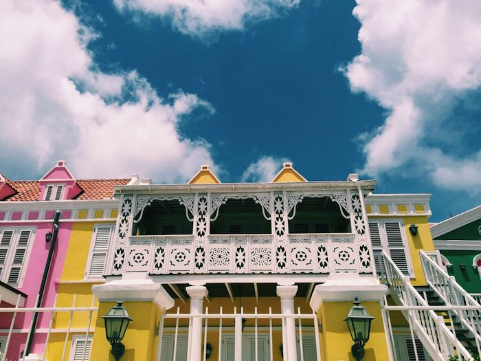 Colorful houses in Pietermaai Historic District, Curacao