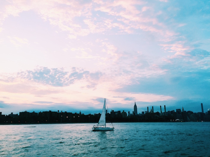 Sailing the East River in New York City