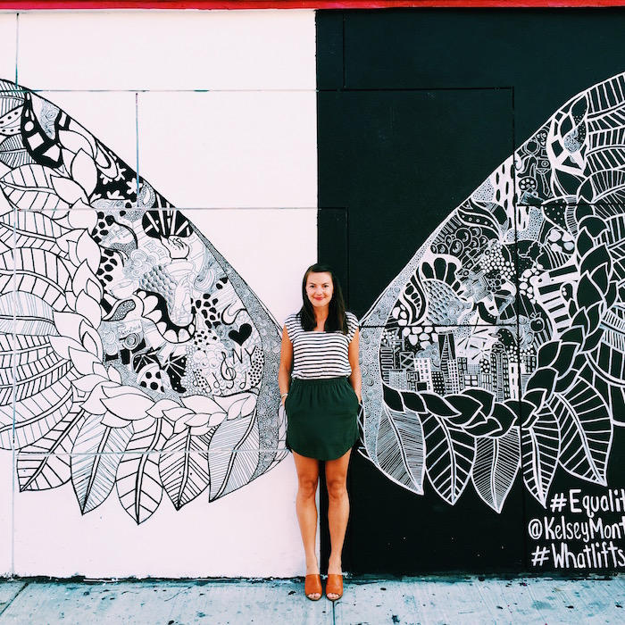 Christine Amorose at the #WhatLiftsYou mural