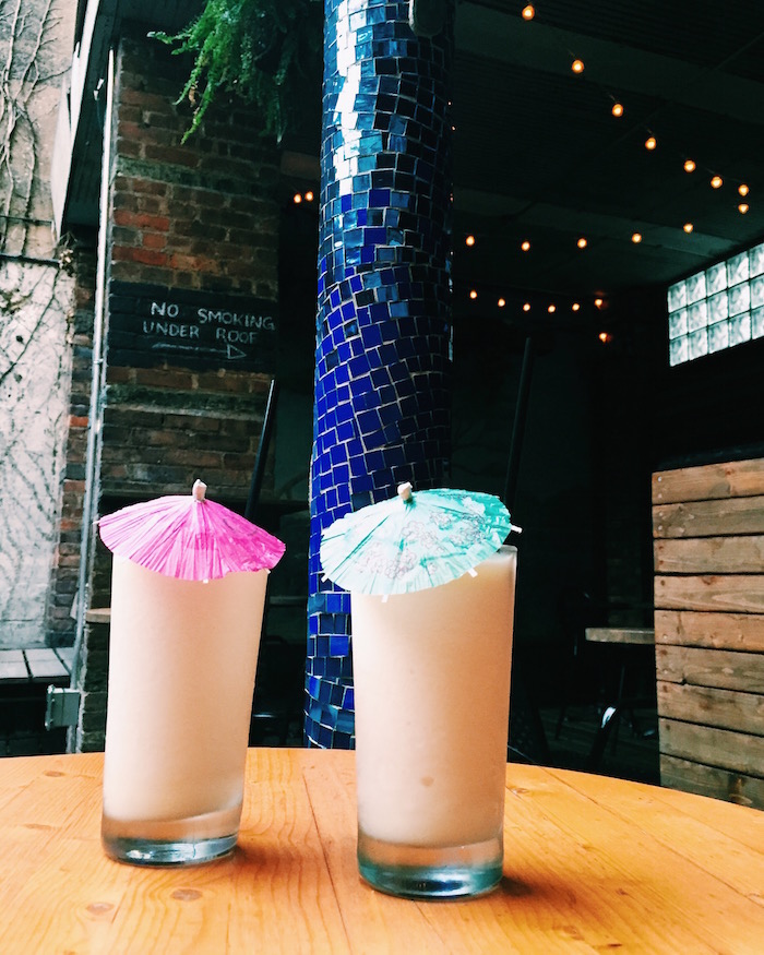 Pina coladas at Broken Land in Greenpoint