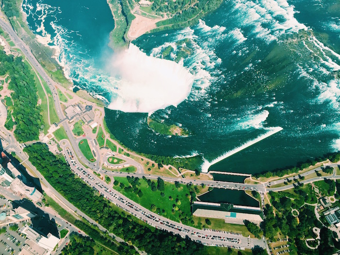 View of Niagara Falls from Niagara Helicopters