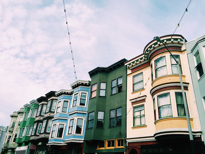 Houses in North Beach in San Francisco, CA