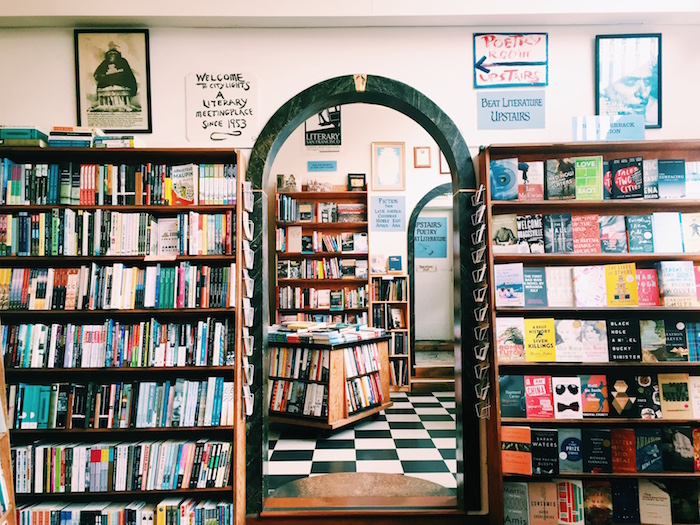 City Lights Bookstore in North Beach, San Francisco