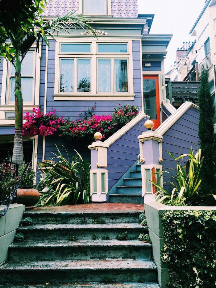 Painted Victorian houses in San Francisco, California