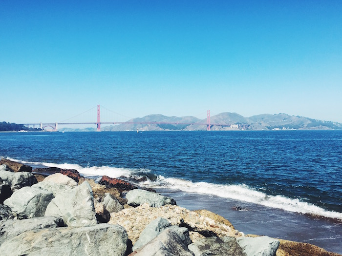 Golden Gate Bridge from Crissy Beach in San Francisco, Calornia