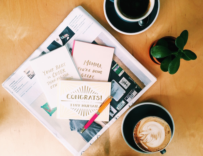 Coffee & Crumbs cards for new moms