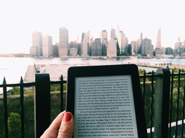 Amazon Kindle on Brooklyn Heights Promenade