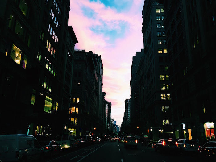Fifth Avenue at sunset