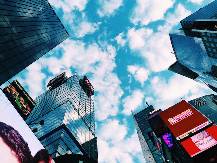 Times Square on a sunny day