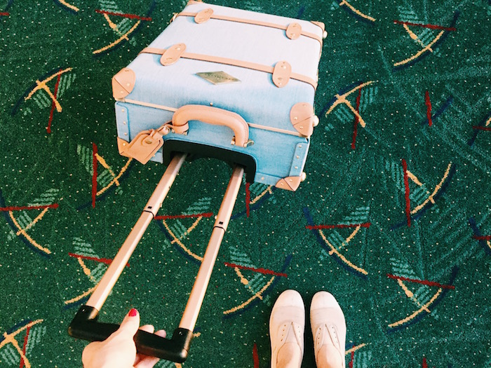 Steamline Luggage and #thatPDXcarpet