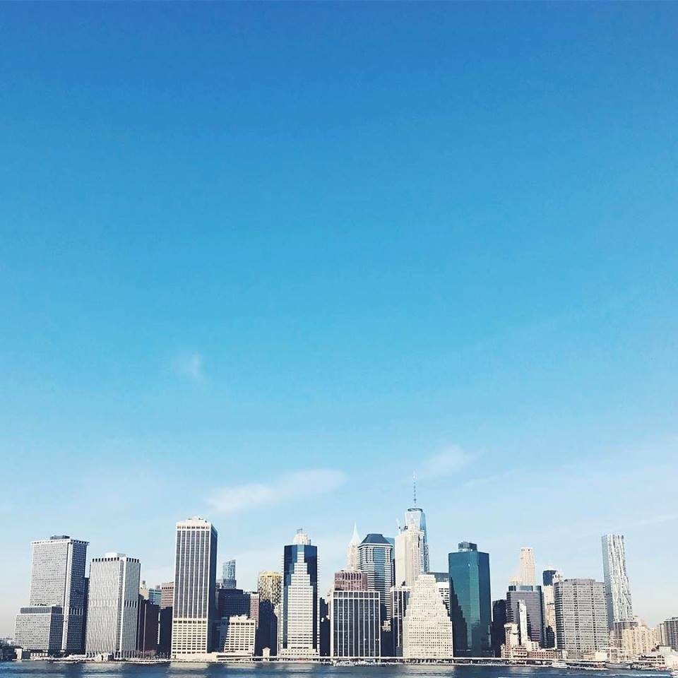 New York City skyline from Brooklyn Heights Promenade