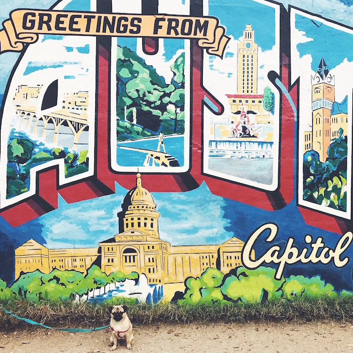 A very long weekend in austin with gertie c 39 est christine for Austin postcard mural