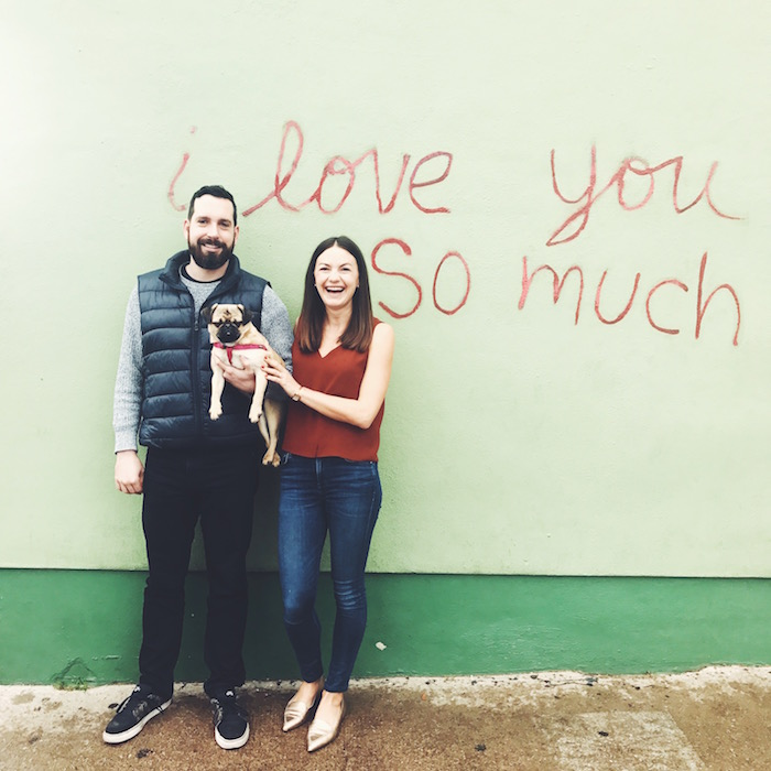 I Love You So Much mural at Jo's Coffee, Austin