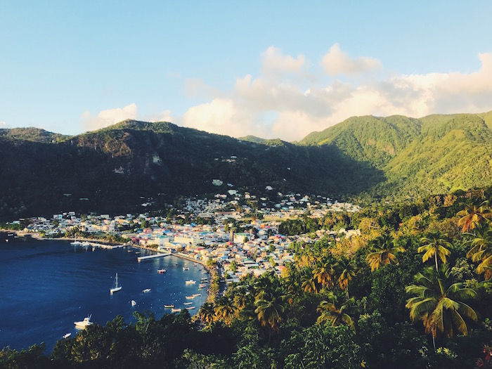 Soufriere, St Lucia at sunset