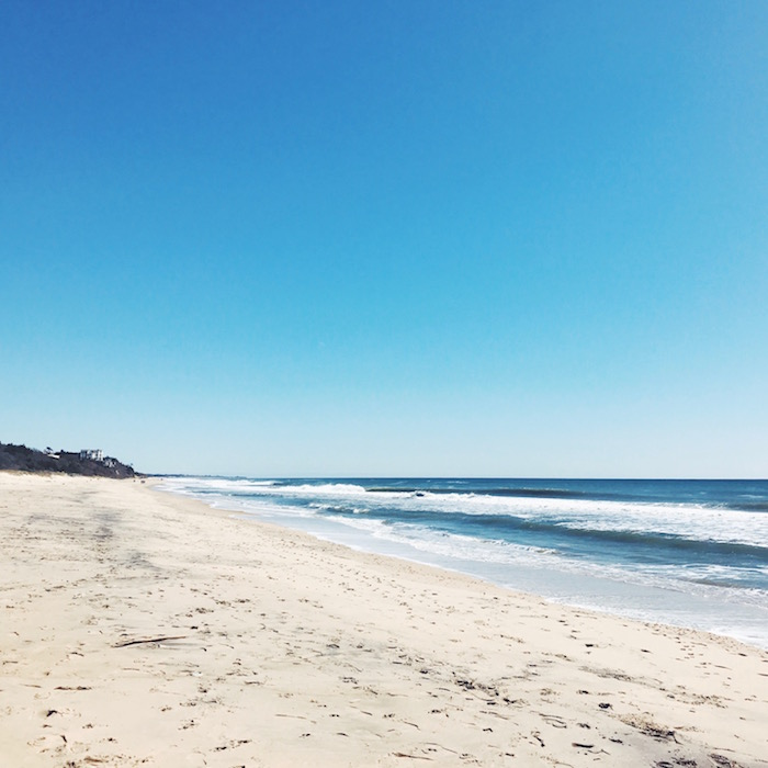 Montauk, the Hamptons beach in New York