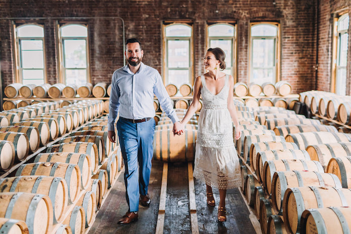 Wedding Party At Kings County Distillery In Brooklyn By Emanuel Hahn