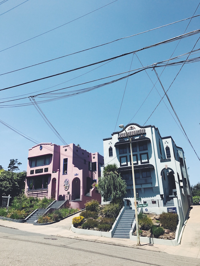 Cute houses in Lower Hills, Oakland, California