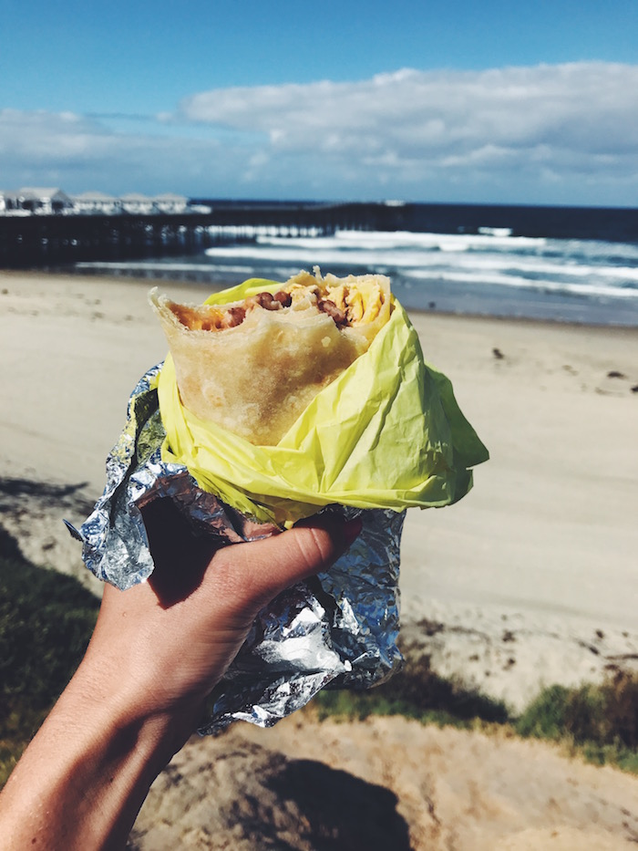 Breakfast burrito in Pacific Beach, San Diego
